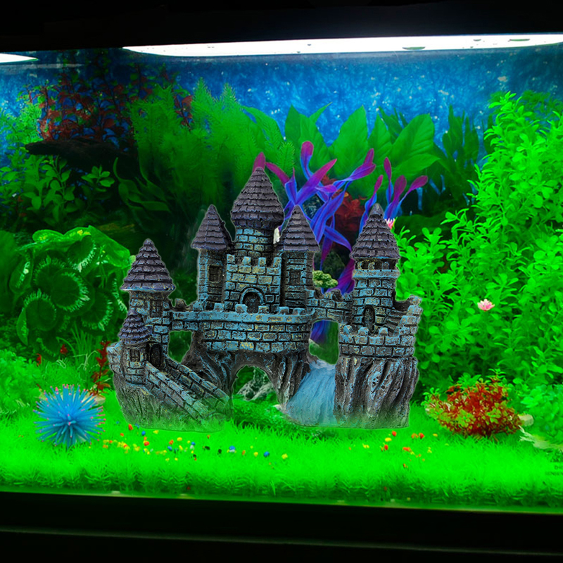 Castle Design Fish Tank Aquarium Ornament Decoration Fish Aquarium ...