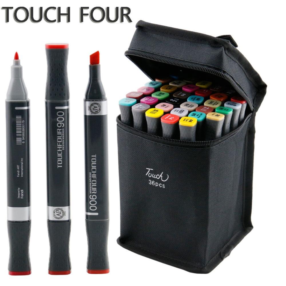 Гаджет  Touch Four Art Marker Pen Set 30 40 60 80 168  Colors Professional Class Special Drawing Painting Copic Markers  None Офисные и Школьные принадлежности