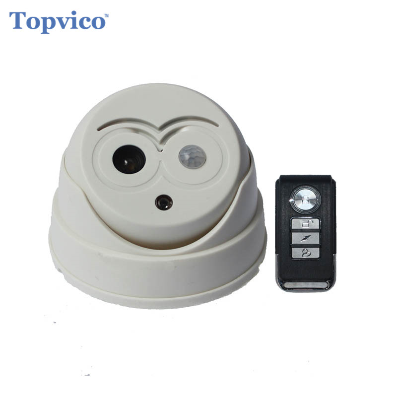 Topvico Welcome Alarm Wireless Door Bell PIR Detector Remote Controller Infrared Motion Sensors Home Security Dummy Camera(China (Mainland))