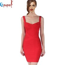 2016 New Women Sexy Spaghetti Strap Rayon HL Elastic Celebrity Bandage Dress Bodycon Mini Club Party Dresses Drop Ship HL8675(China (Mainland))
