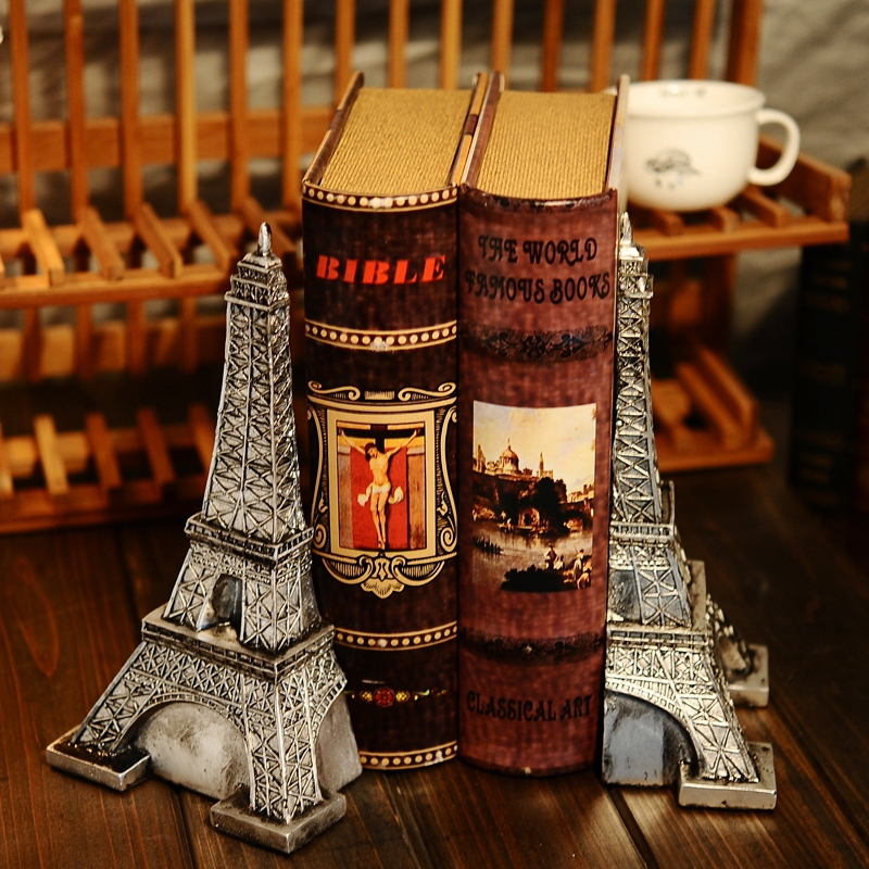 EC DAILY European country resin ornaments creative nostalgia ornament Eiffel Tower books bookends books by FREE SHIPPING(China (Mainland))