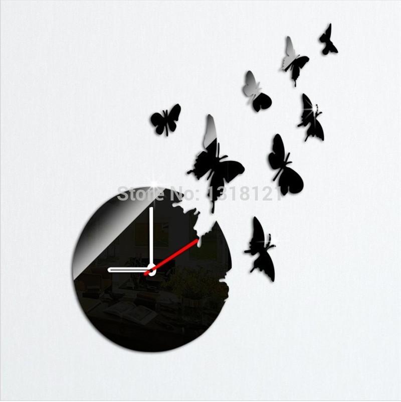 Achetez en gros horloge papillon en ligne des grossistes - Pendule murale papillon ...