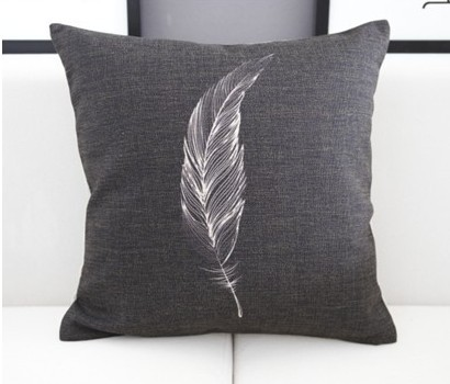ikea black background feather cushion cover sofa ikea pillow case pillow cushion cover vintage home decor(China (Mainland))