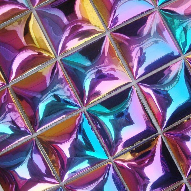Wholesale porcelain tile backsplash ideas plated colorful for Craft mosaic tiles bulk