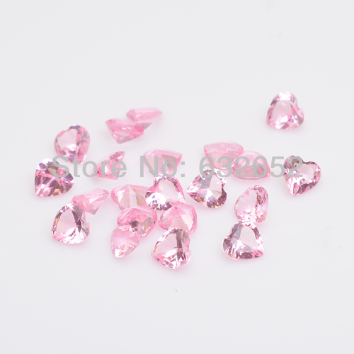 5mm heart crystal stones floating locket charms pink , fit Floating locket FS1005(China (Mainland))