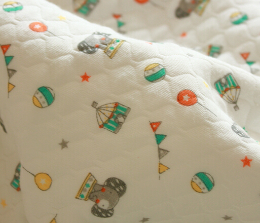 Little Elephant Bamboo fiber fabric Size 50cm*180cm 1pcs for Baby clothes Kids Baby Bedding Textile For Sewing Baby Fabric(China (Mainland))