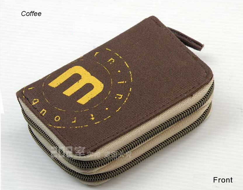 Brown Multi ID Credit Card Holder Case/Place Business card holder & Women Men Wallets student teenage purse & zipper coin pocket(China (Mainland))