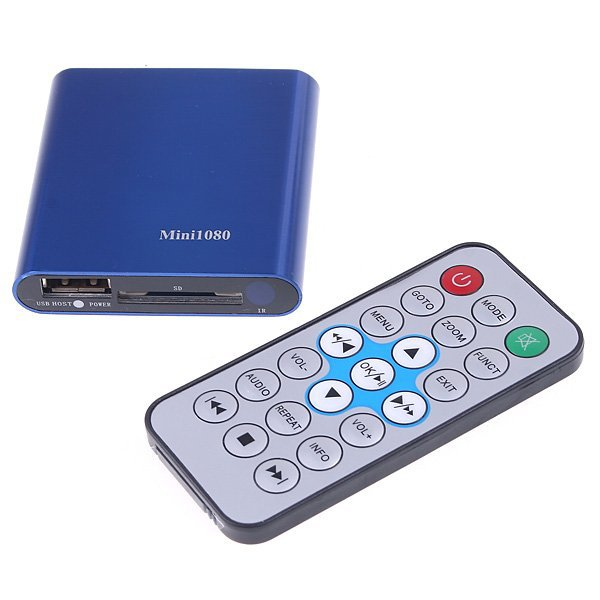 The Lastest Version MINI Full HD 1080P MKV USB Media player,RM,H.264,HDMI out,SD Card,USB HOST,Power On Auto Play Function!(Hong Kong)