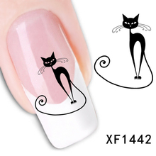 XF1442 Loveliness Cat Nail Stickers Gel Beauty Decal makeup temptation Cartoon cat sweetheart Animation