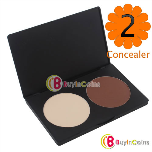 2 Color Professional Contour Shading Facial Care Makeup Foundation Concealer Palette #2555(China (Mainland))