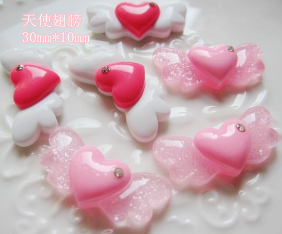 Free shipping 20pcs resin Accessories for DIY Life decoration Angel wings (HDX009)()