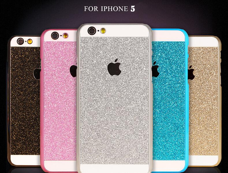 Fashion Luxury Cover Cases For Iphone 5 PC case Bling Transparent Glitter Hard shell Phone Accessories For iphone 5s Case capa(China (Mainland))