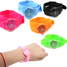 1pc  Girls Candy Colors Sweet Long Band Silicone Girl Sports Watch Kids Hour Minimum Order 5 piece # L05306