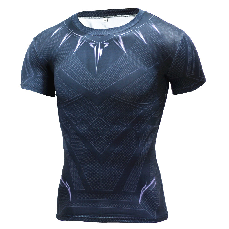 Brother Panther Ventilate Quick-dry 3D Superhero Man T Shirt Sport Gym Shirt Men Short Sleeve Athletic Bicycle Jersey(China (Mainland))