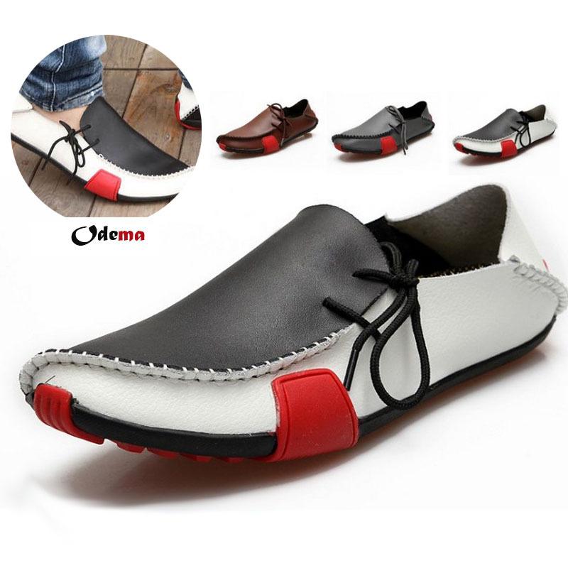 2013 Popular Mens Men Shoes Flat Genuine Leather Driving Moccasins Slip On Menu0026#39;s Shoe Men ...