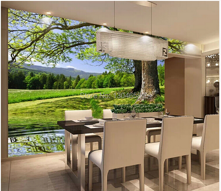 High quality papel de parede paisagem buy cheap papel de for 3d wallpaper for home malaysia