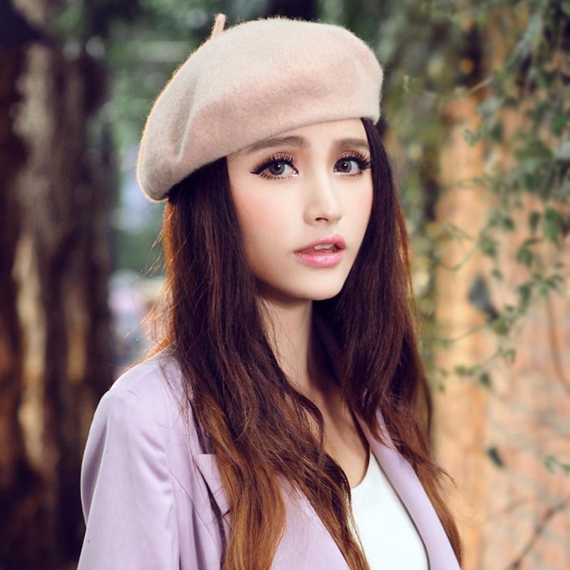 Hot Sale 2015 Women Hat Candy Color Girls Headgear Cap(China (Mainland))