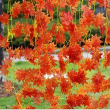 2016 Artificial Ivy Red Leaf Garland Plant Vine Fake Foliage Flower Home Festival Decor Wholesale (China (Mainland))