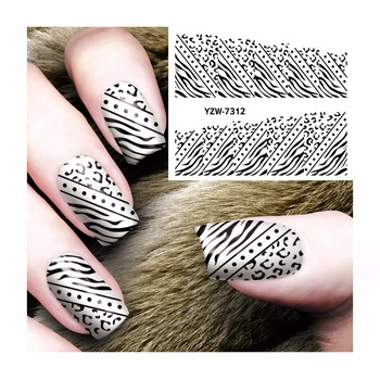 WUF Nail Sticker Water Adhesive Foil Nail Art Decorations Tool Water Decals  Black Ladies Section Design Nail Sticker Makeup