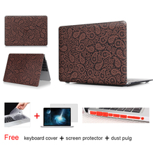 Paisley Gray Cover Laptop Accessories Hard Cases Cover For Macbook Pro 13 Case Pro 13 15 Retina Laptop Skin 13.3 inch tablet