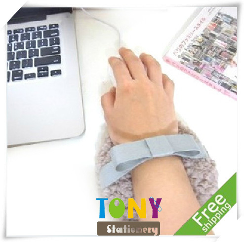 TONY Wholesale Korea Cute Plush Mouse Wrist Rest & Pad 2 Colors 13mm 8pcs/lot YZ389 Free Shipping