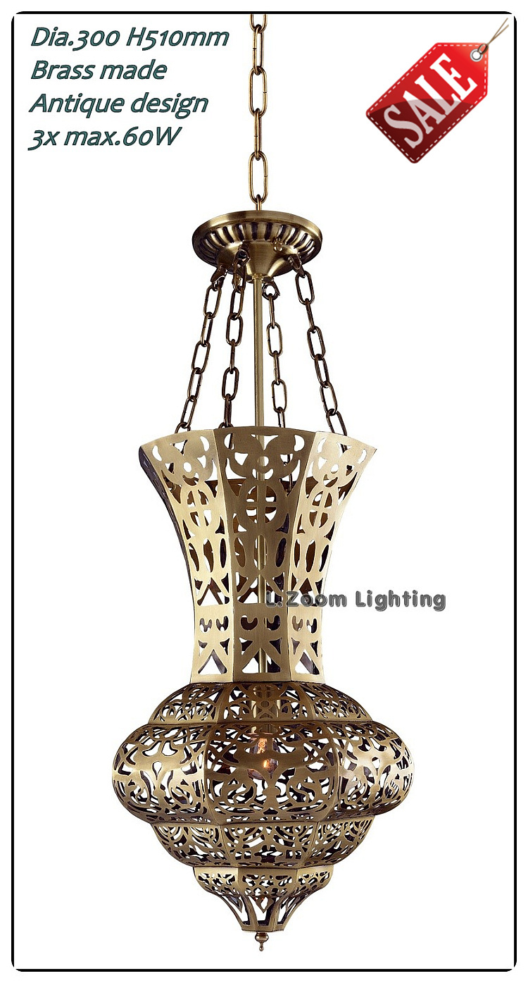 Vintage Style Copper  Antique Brass Pendant lights / Brass Made No Rust Handmade Lighting Fixtures, Islamic Copper hanging lamp(China (Mainland))