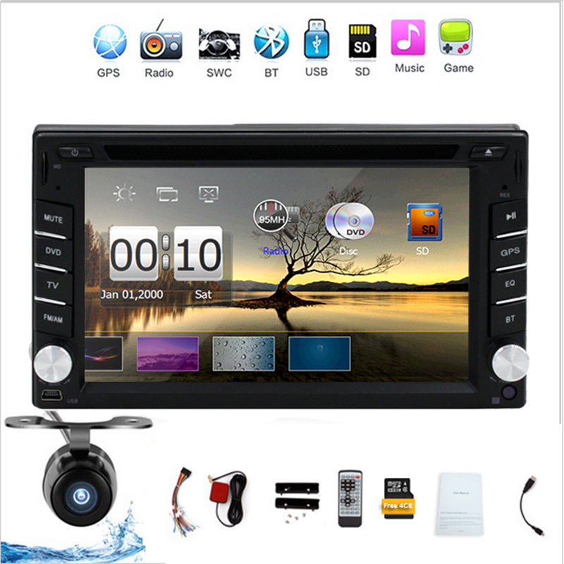 New universal Car Radio Auroradio Double 2 din car dvd player GPS Navigation In dash Car PC Stereo Head Unit video+Free Map Card(China (Mainland))