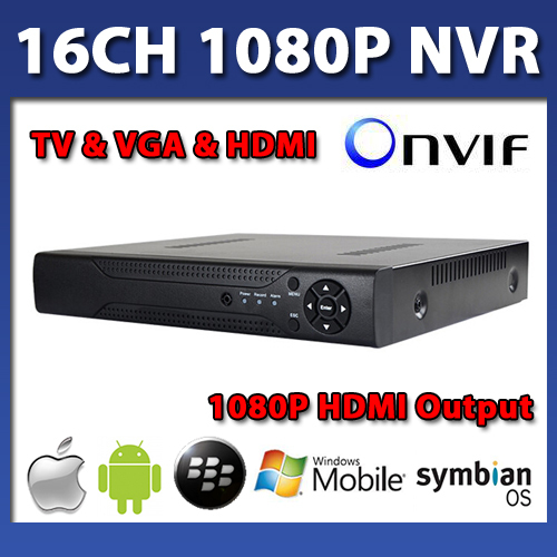 16 Channel NVR Hdd Onvif Cctv 1080p Real Time Recording 720p Hdmi Output Rj45 IOS Phone Network For Ip Cameras Recorder 16ch(China (Mainland))