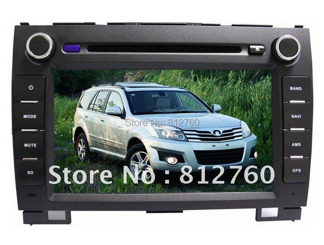 8 inch car dvd player for Great Wall Hover H3/H5 with GPS,Bluetooth,TV,IPOD,Radio,Steering wheel control,Free shipping