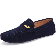 Men loafer Fashion brand Moccasins Men Shoes Gommini Loafers Genuine Cowhide Leather Flats Men's Driving Shoes Oxfords(China (Mainland))
