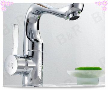 New Modern Chrome Single Lever Swivel Bathroom Sink Basin Mixer Tap Faucet CODE 7054(China (Mainland))