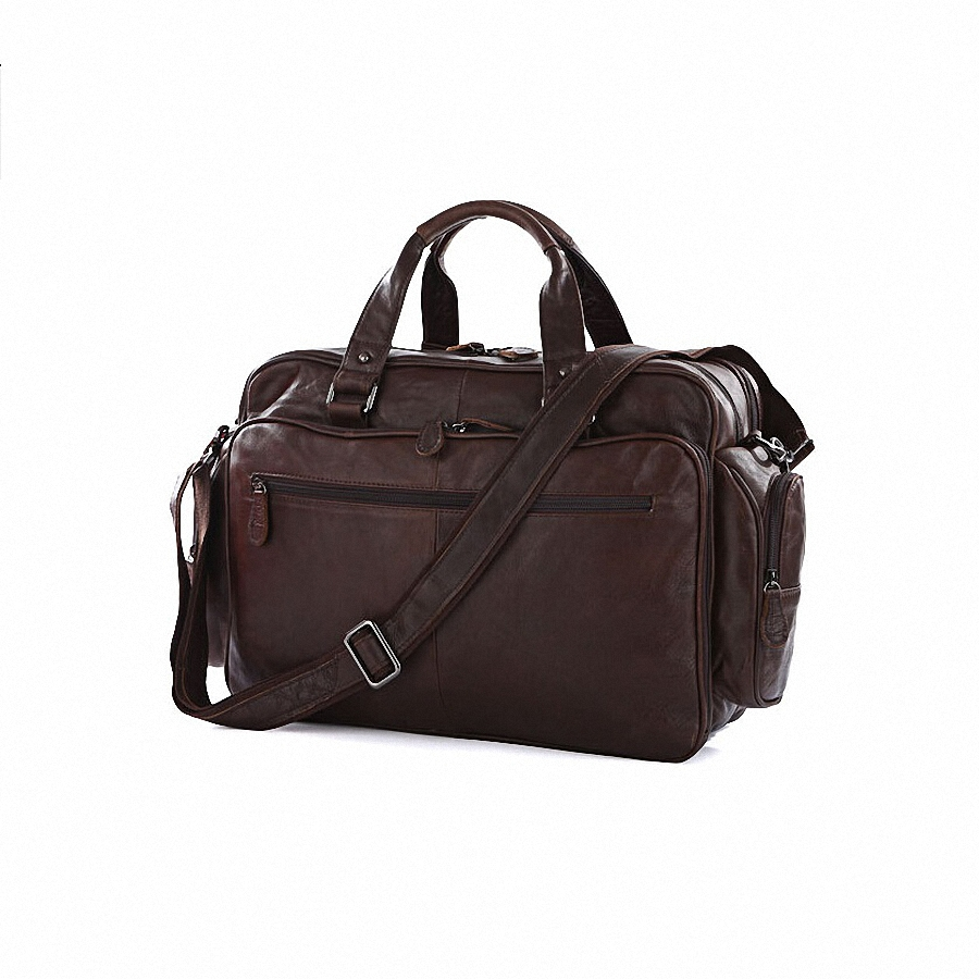 Guaranteed 100% Genuine leather Vintage Real cowhide Leather Men Briefcase