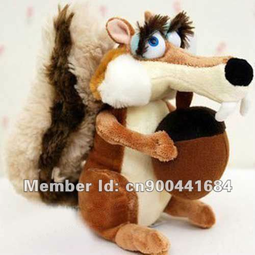 "Wholesaler Ice Age Squirrel Plush Stuffed Animal toys 7.8""+Free shipping HOT sale Ice Age Cute Stuffed Ornaments,Collectible"