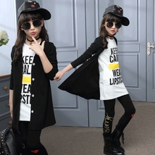 Buy Children girls clothing sets autumn teenage girls sport suit school kids clothes tracksuit long coat Leggings 3pcs girls clothes for $20.25 in AliExpress store