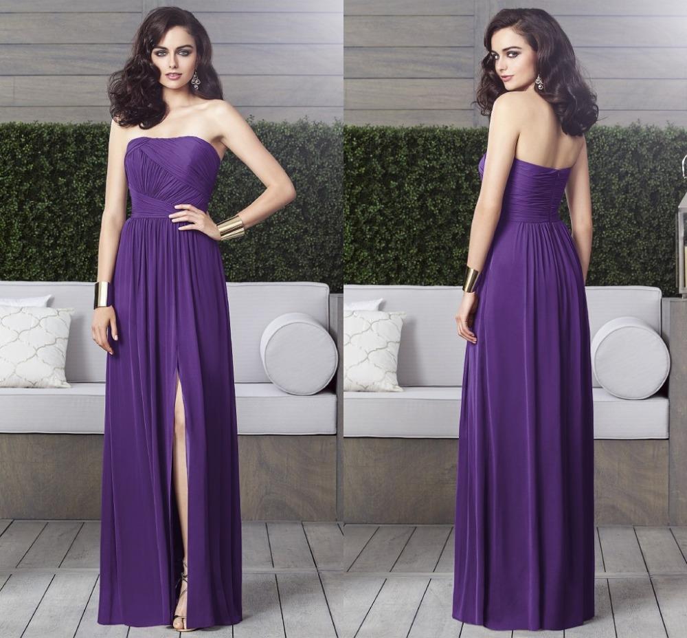 Moderno Vestidos De Dama De Color Marrón Festooning - Vestido de ...