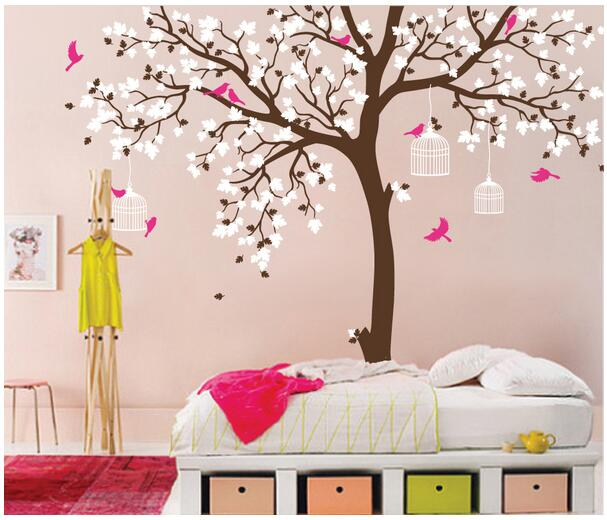 aliexpress com buy bird cage tree nursery wall stickers