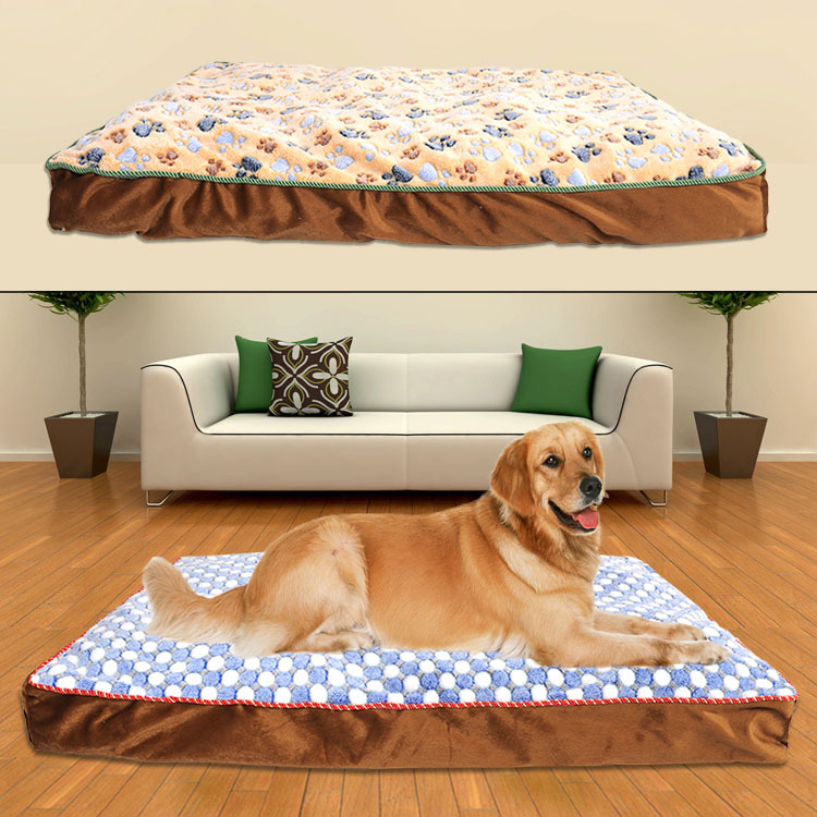 Big extra large dog mat pet luxury bed House sofa Kennel washable Soft Fleece Golden Retriever Pitbull Dog Warm cushion bed nest