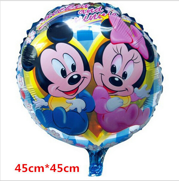 18inches foil balloons round shape Mickey mouse balloons for party cartoon ballons happy birthday(China (Mainland))