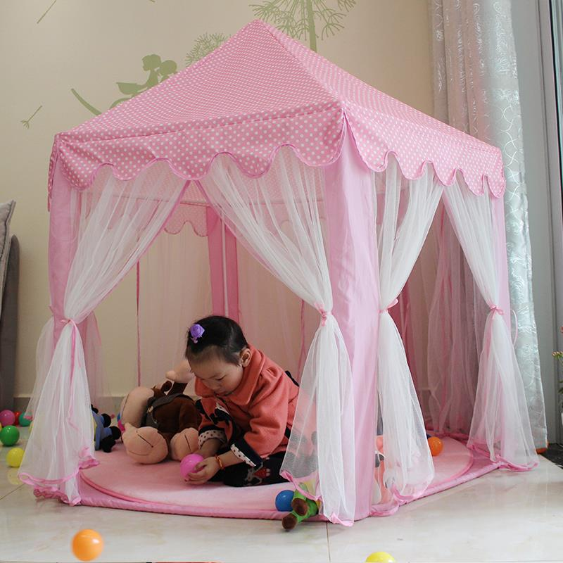 New upgrades Six Korean Angle Princess Castle Gauze Tent House Girl Children Large Indoor Toy Game House Mosquito best gift(China (Mainland))