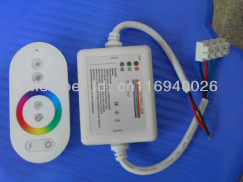 [Seven Neon]free DHL shipping Wireless RF Touch Panel LED RGB Dimmer Remote Controller For 5050 RGB LED Strip