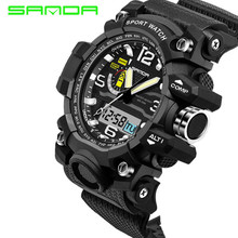 Buy Mens Watches 2017 SANDA Fashion Watch Men G Style Waterproof Sports Military Watches Shock Luxury Analog Digital Sports Watches for $10.30 in AliExpress store