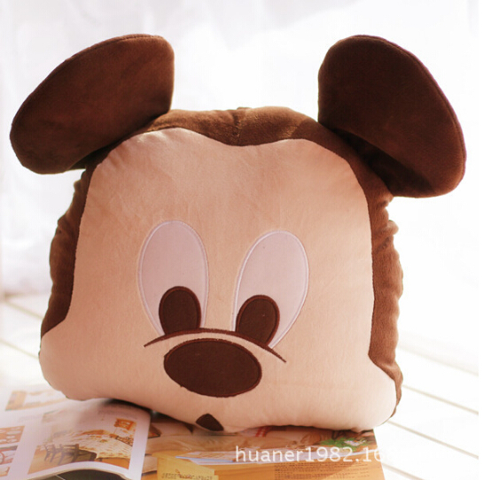 Mickey and Minnie mouse Cushion Pillow plush toys, The best Christmas gift free shipping(China (Mainland))