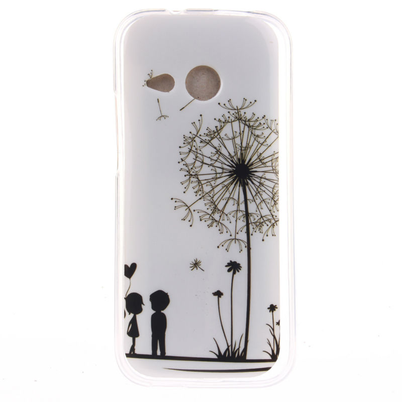 Case For HTC M8 Mini Cover Quality Picks Soft TPU Slim Dirt Resistant 4.5 inch Mobile Phone Back Cover Cases For HTC M8 Mini(China (Mainland))