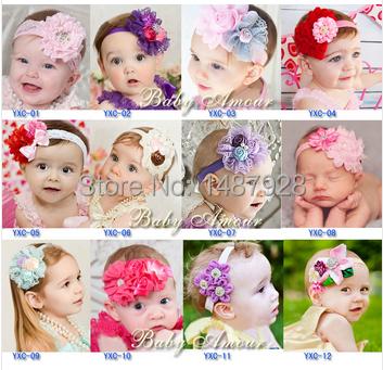 Wholesale / Retail Infant flower headband Babies pink lace hairband Toddler Baby girls Felt Flower headbands Free shipping A250(China (Mainland))