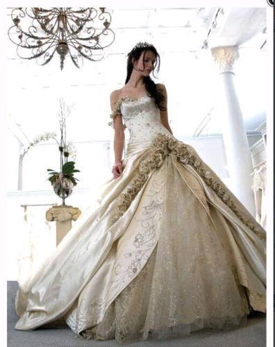 Wholesale STOCK FOR SALE Elegant Vintage Royal Princess Wedding Prom Evening Dress In Wedding