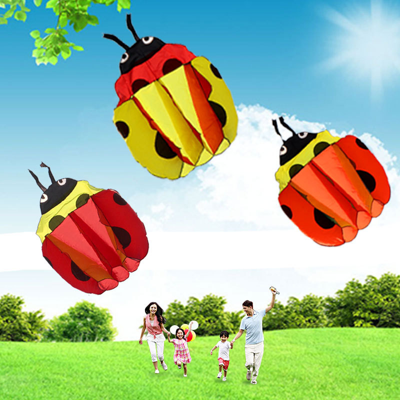 140Cm Ladybug Single Line Stunt Software Power Kite Inflatable And Easy To Fly TD0082(China (Mainland))