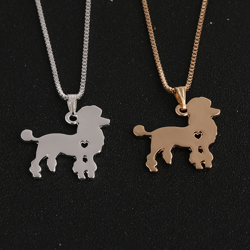RONGQING Fashion Cute Poodle Pendant Necklace Poodle Necklace for Lovers Dog Breed Jewelry Gifts Animal Collars(China (Mainland))