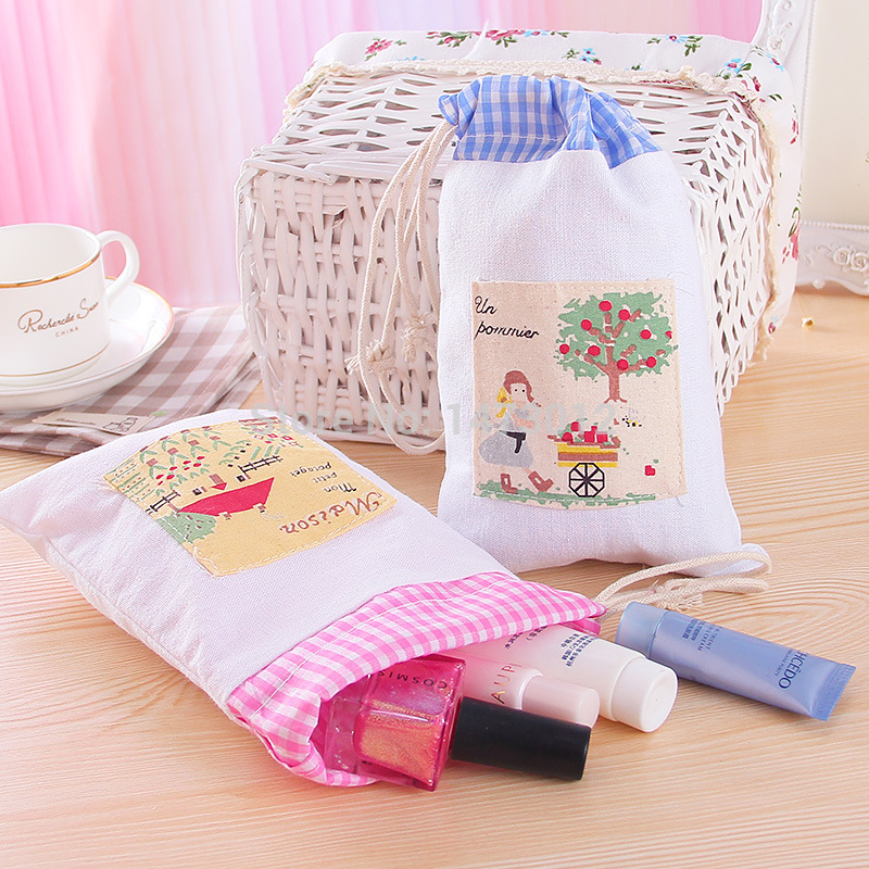 2014 Promotion Real Set Vacuum Bag 1pc Elegant Cloth Beam Port Travel Outdoor Storage Bag Drawstring Type Portable Hanging 29g(China (Mainland))