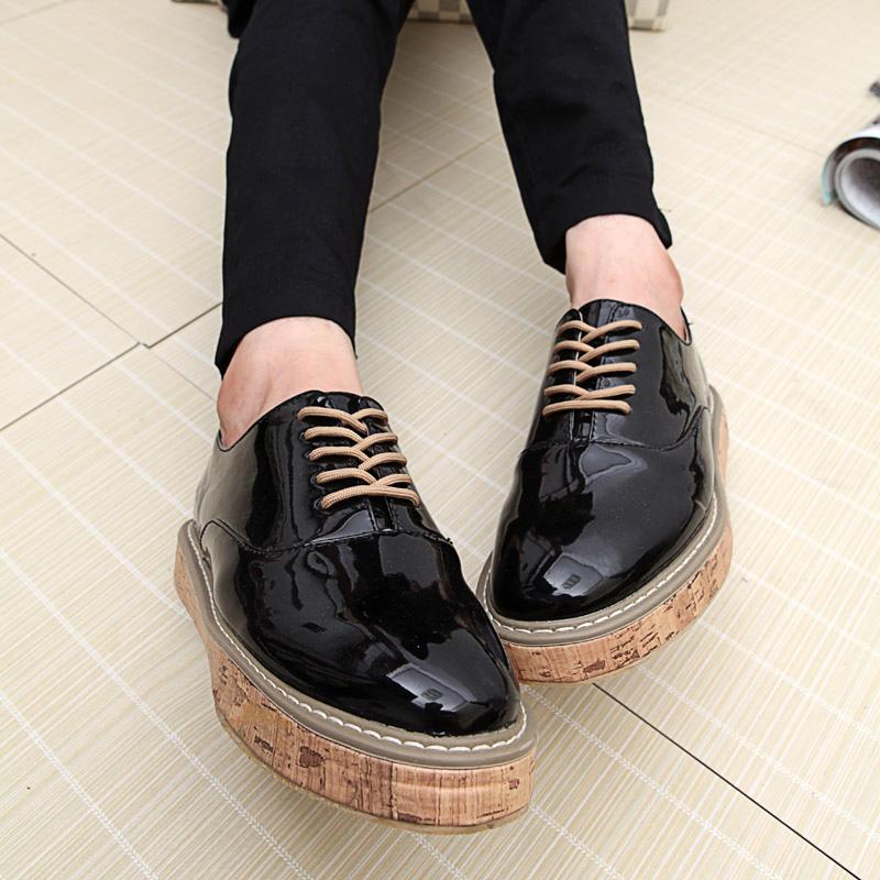 Высокое качество мода мужская квартиры свободного покроя оксфорды обувь лакированной кожи мужской обуви бесплатная доставка 0.7 / 2