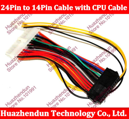100pcs 24Pin to 14Pin ATX DIY Power Cable Cord with 4PIN CPU EXTENSION CABLE For o Q77 B75 A75 Q75 PC Desktop Motherboard(China (Mainland))